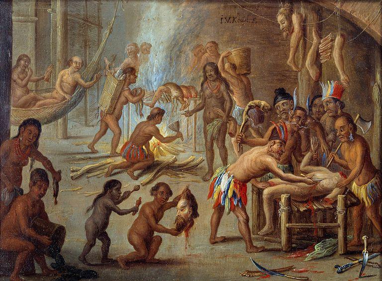 Scene of cannibalism in Brazil in 1644 by Jan van Kessel
