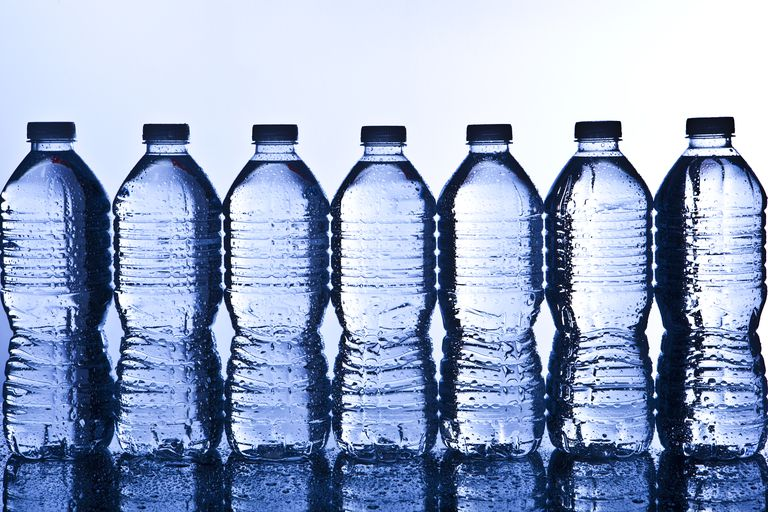 Bottled water may carry an expiration date, but under typical storage conditions it does not go bad. It can grow algae and absorb chemicals from its container that make it taste bad.