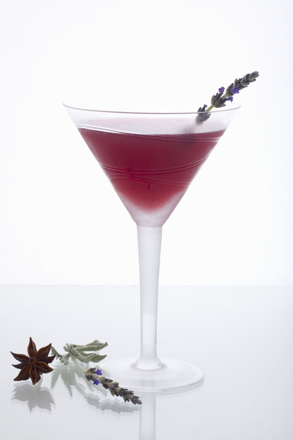 Orange Blossom Cocktail Garnished with Lavender Sprig
