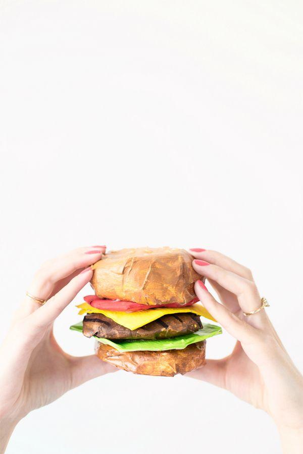 paper mache hamburger