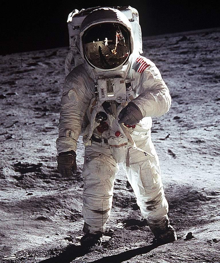 Astronaut Edwin Aldrin on Lunar Surface