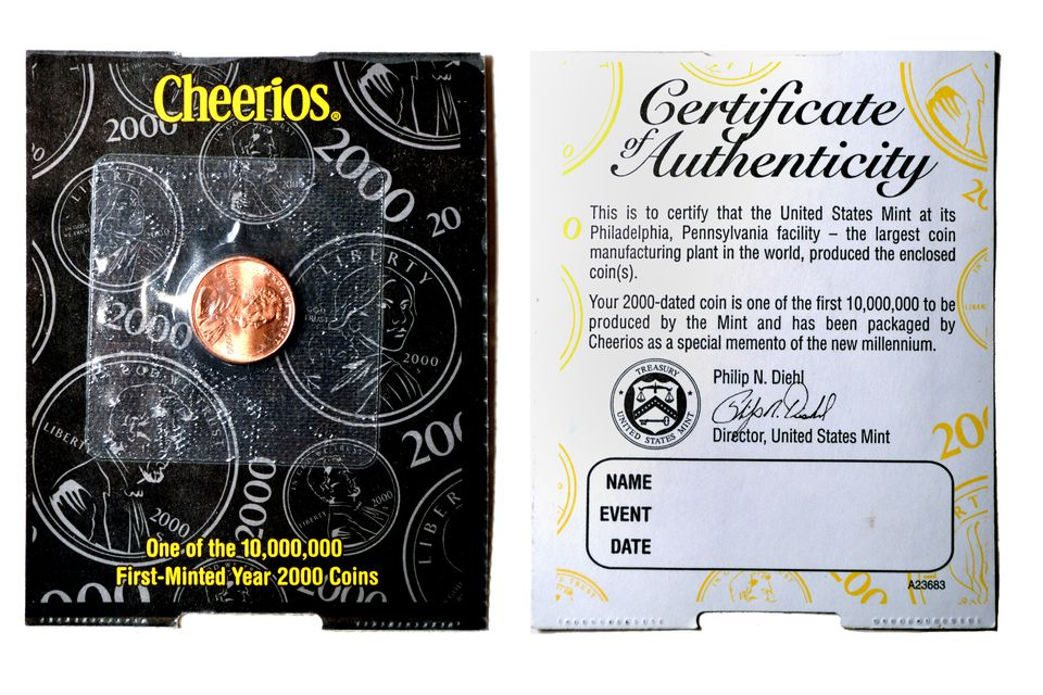 An example of a 2000 Cheerios Penny