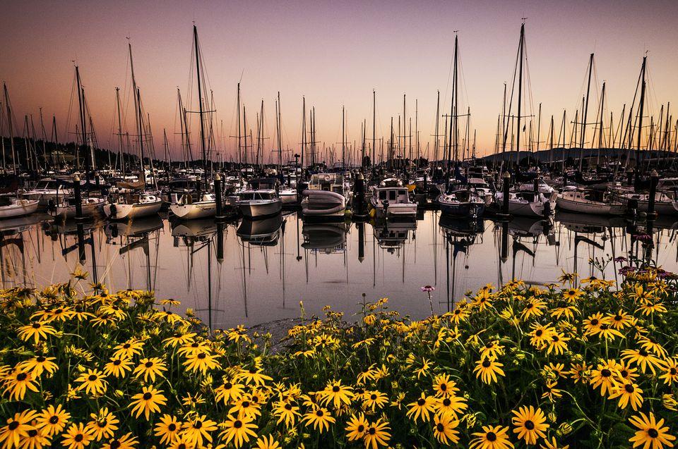 Sunset at Squalicum Harbor