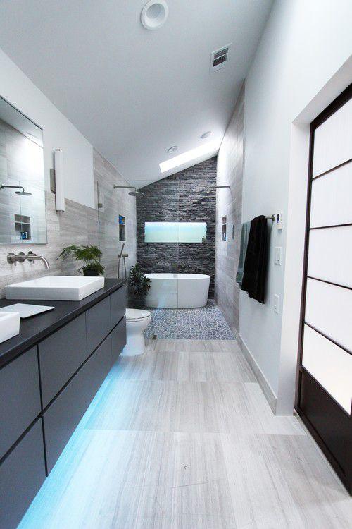 beautiful bathrooms. Gray  Black and White Bathroom 50 Beautiful Ideas