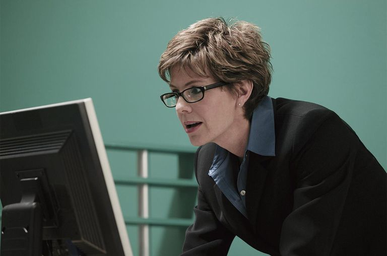 Businesswoman at computer