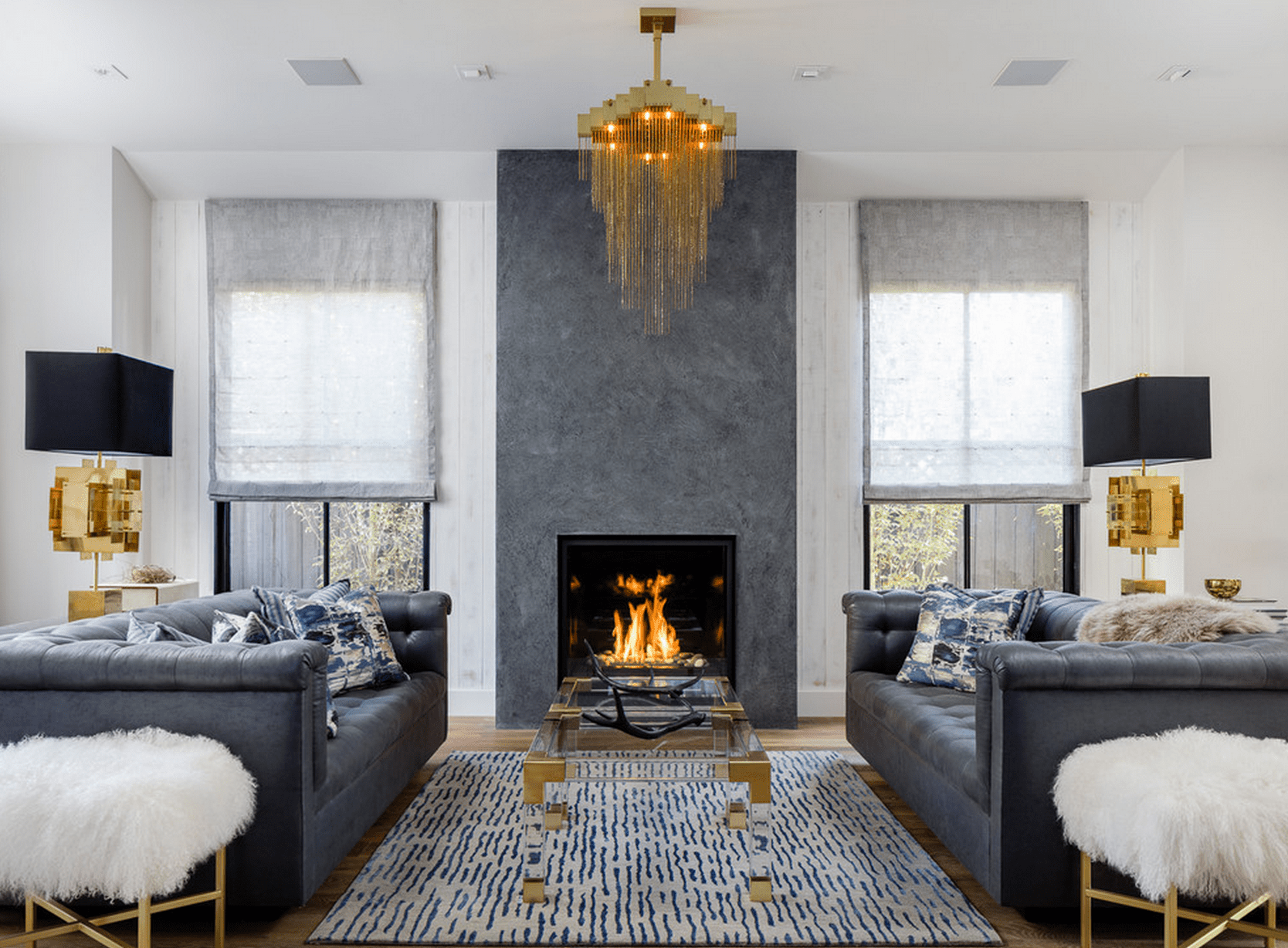 100 decoration ideas for living room with fireplace for Living room no fireplace