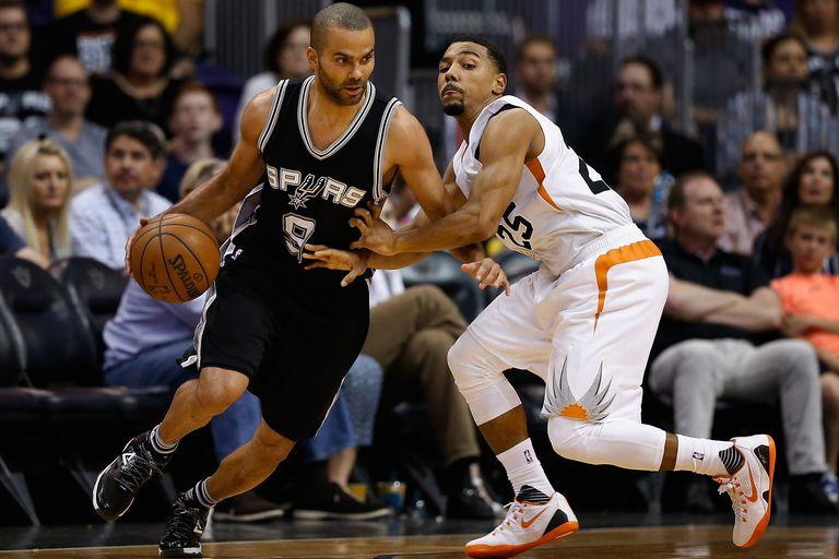 An NBA basketball game