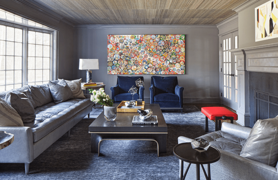 Gray living room ideas Gray blue yellow living room