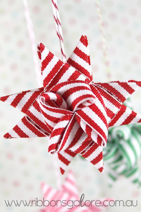 Christmas ribbon star ornament