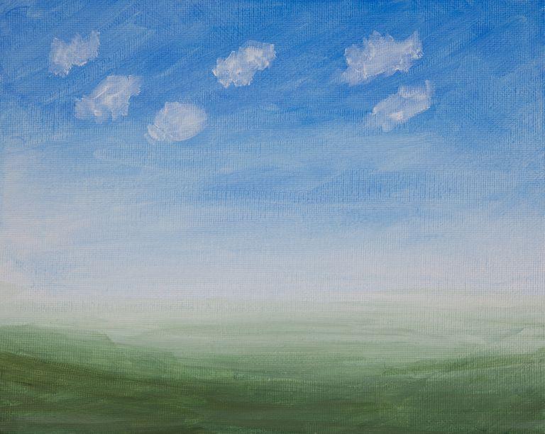 Painted Canvas - Primed Landscape