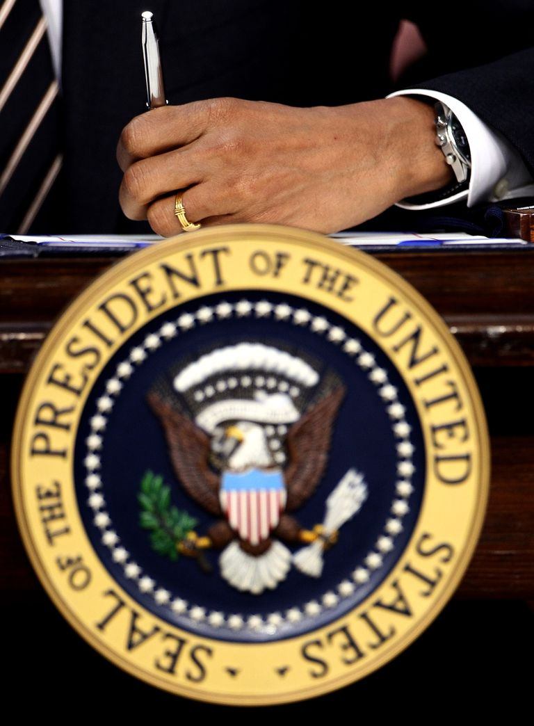 The seal of the President of the United States