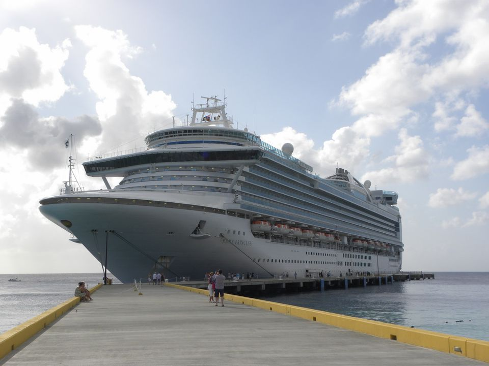 The Ruby Princess docked at Grand Turk Island in the Turks & Caicos
