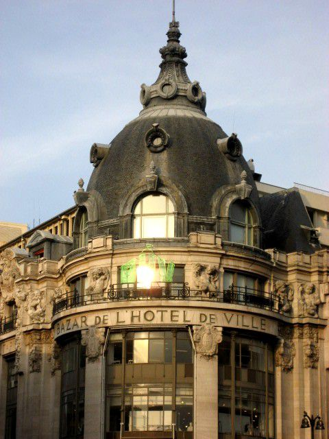 BHV Department store in Paris boasts an elegant domed roof.
