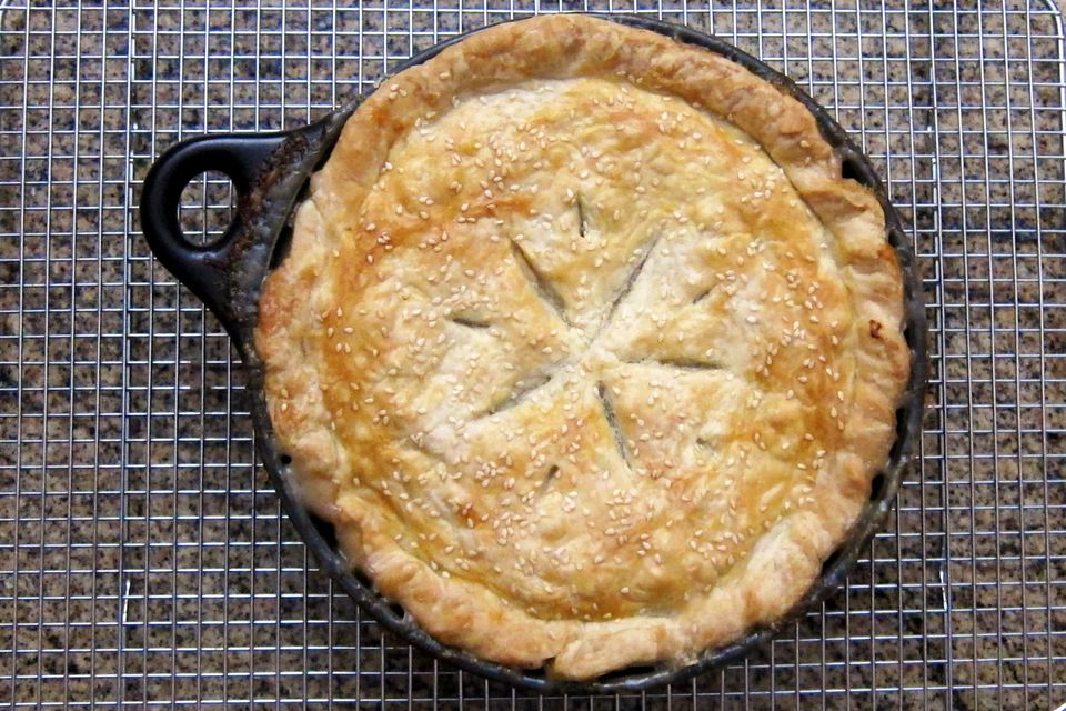 turkey pot pie with homemade pastry