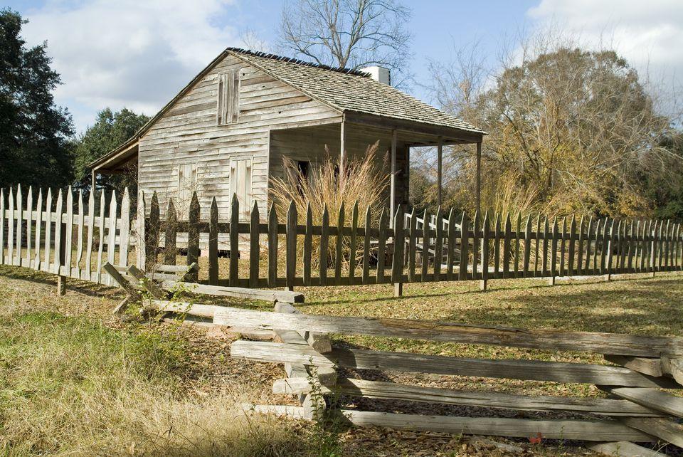 Acadian cabin, Longfellow, Evangeline State Park, Louisiana