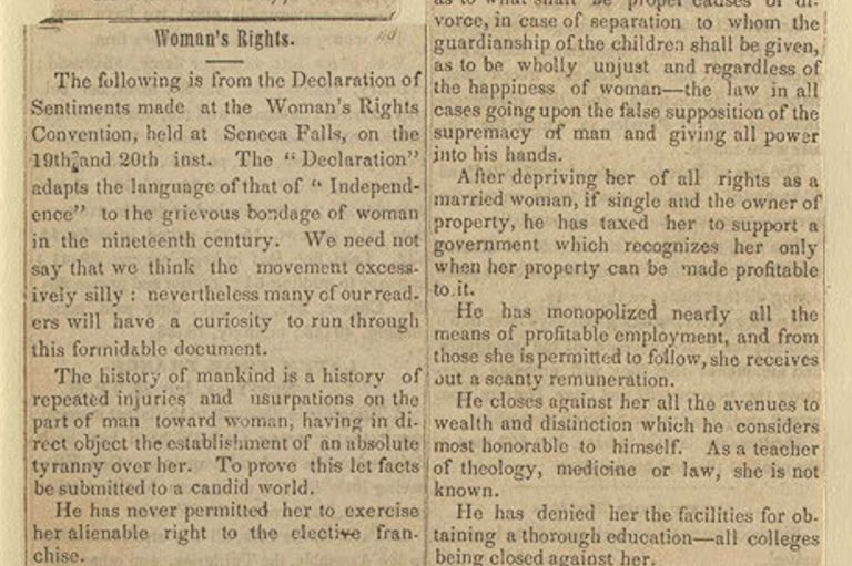 Seneca Falls Report - from The Recorder, August 3, 1848 - Syracuse