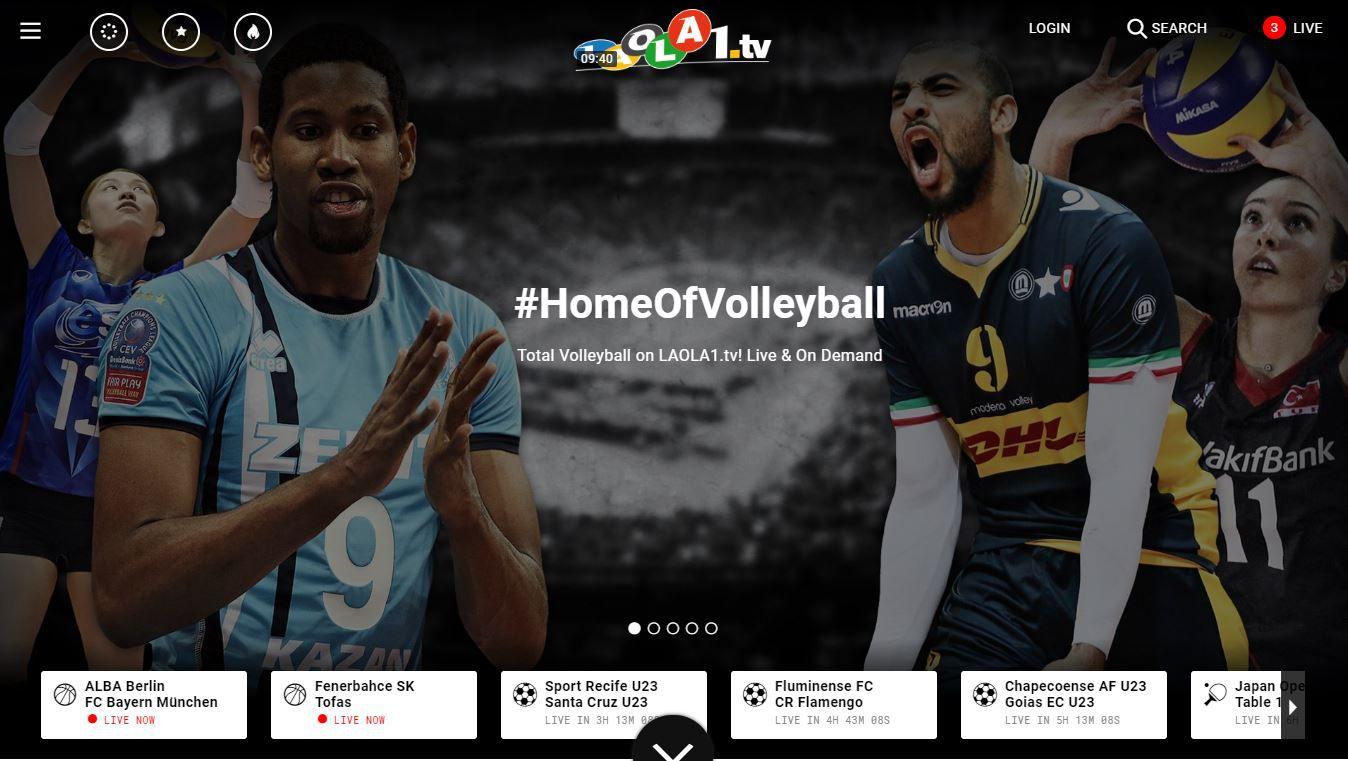watch live sports streams on laola1
