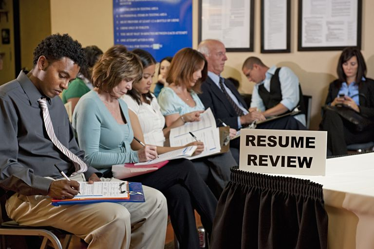 Applicants at Job Fair