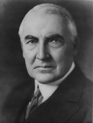 Warren G Harding, Twenty-Ninth President of the United States