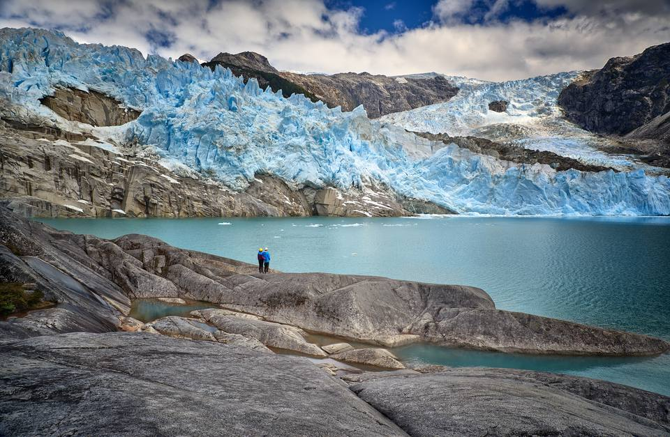 Glaciers in Patagonia.