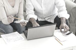 Couple filing taxes