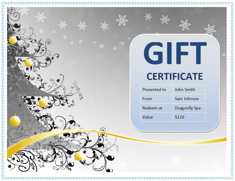 Custom Gift Certificate Templates for Microsoft Word – Certificate Template Free Word