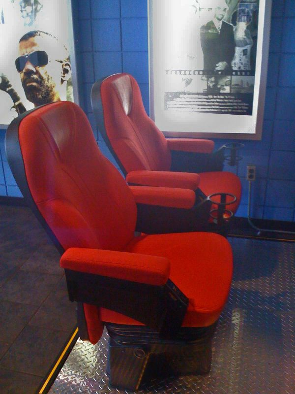 D-Box MFX Motion Seat display at Emagine Canton, a movie theater in the suburbs of Detroit, Michigan