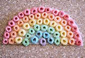 Cereal Rainbow Saint Patrick's Day Craft