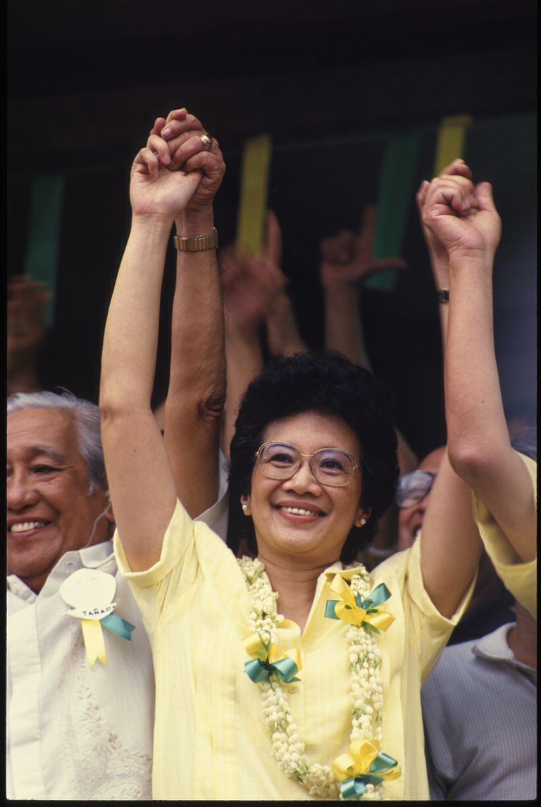 Cory Aquino wins the presidency of the Philippines