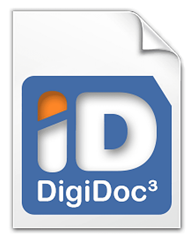 Screenshot of a DigiDoc DDOC file icon