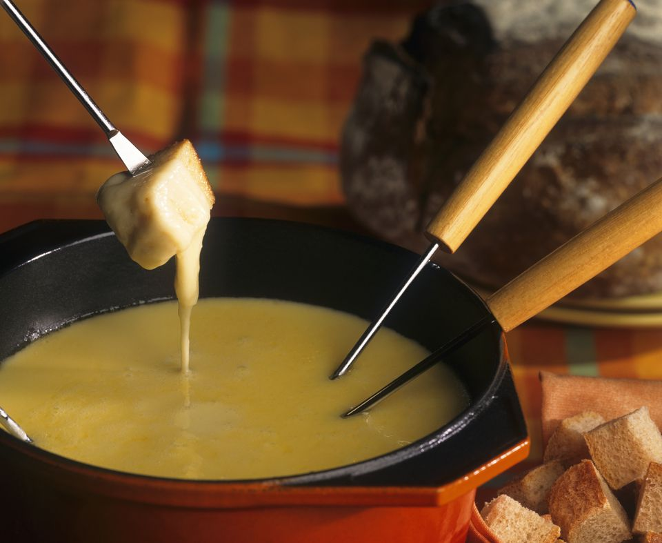 Fondue Savoyarde (Three-cheese fondue)
