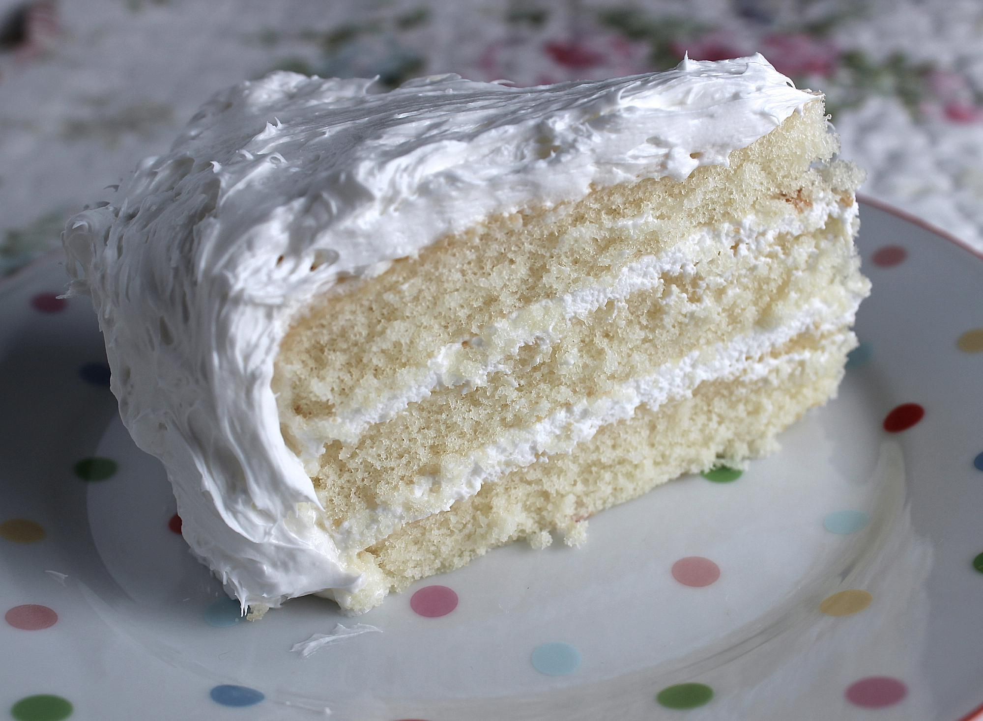 White Layer Cake Recipe With Two-Step Batter