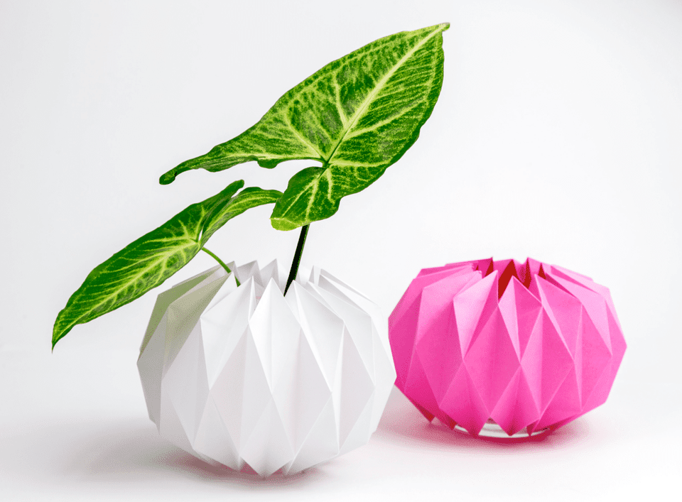 Origami Plant Holders