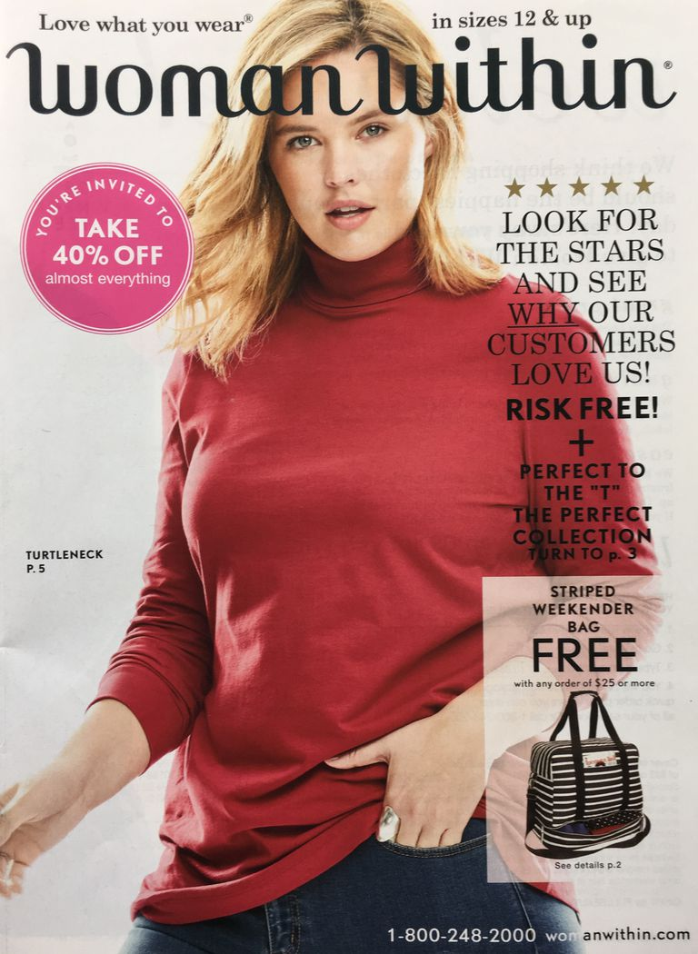 get free plus size clothing catalogs