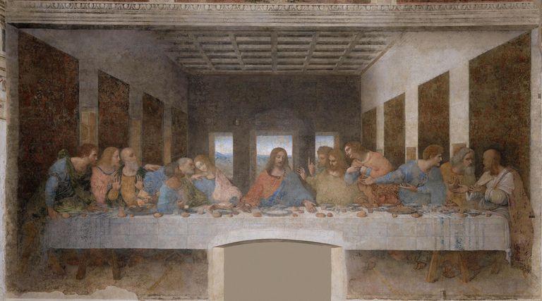 Last Supper by Leonardo da Vinci, mural painting