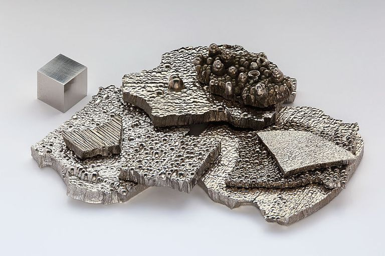 Cobalt is a hard, silvery-gray metal.