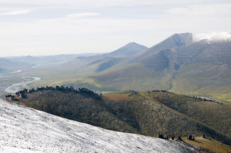 The mountainous terrain. Oimyakon district, Republic Sakha (Yakutia).