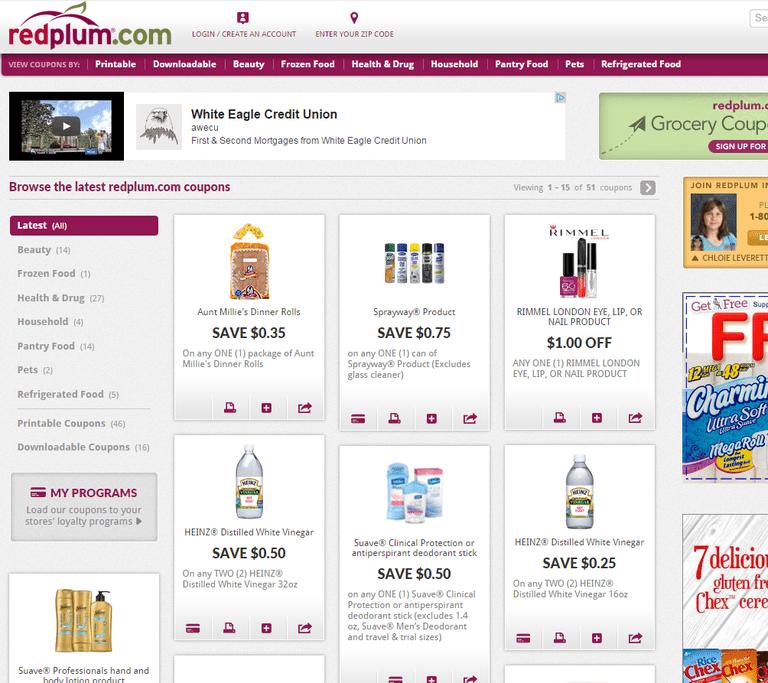 Screenshot of the Redplum website