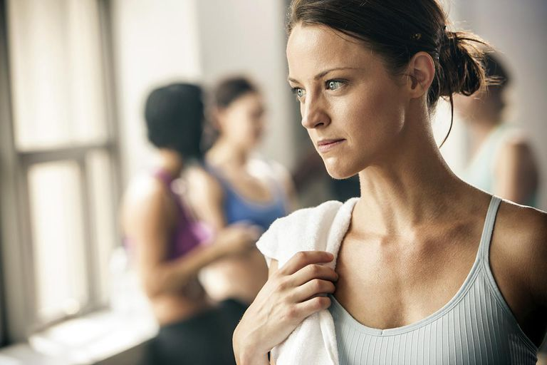Woman standing in gym