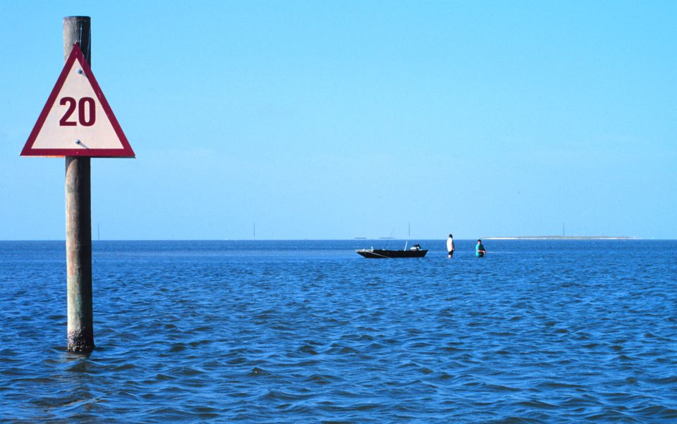 Photos and maps related to Padre Island. Padre Island National Seashore - fishing in Laguna Madre