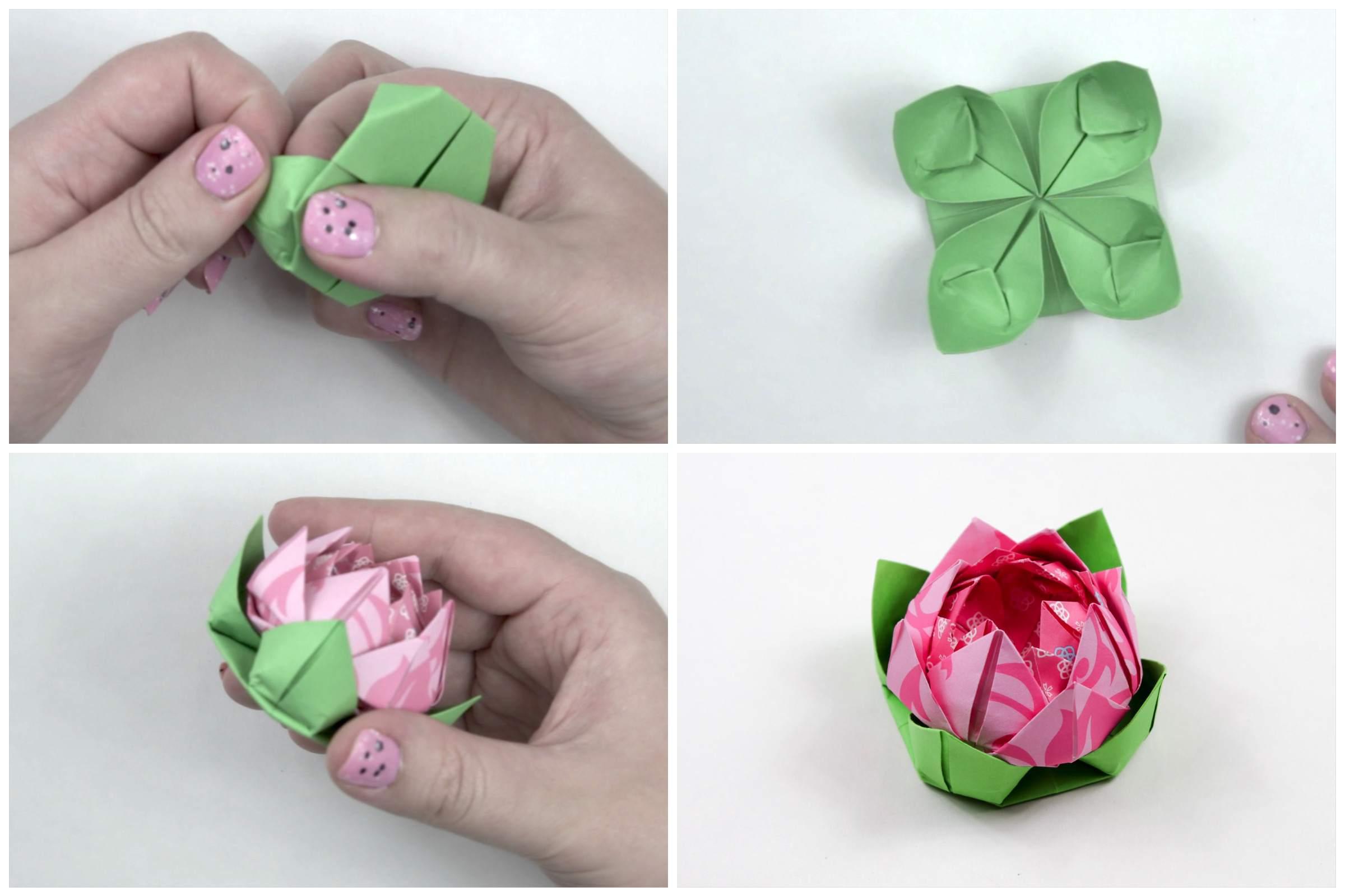 Origami lotus leaf tutorial jeuxipadfo Gallery