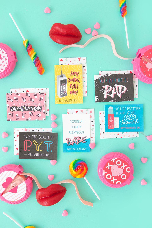 DIY 80s Printable Valentines