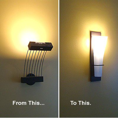 Wall mounted light fixture installation