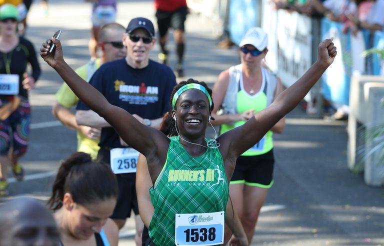Finish of Hapalua - Hawaii's Half Marathon