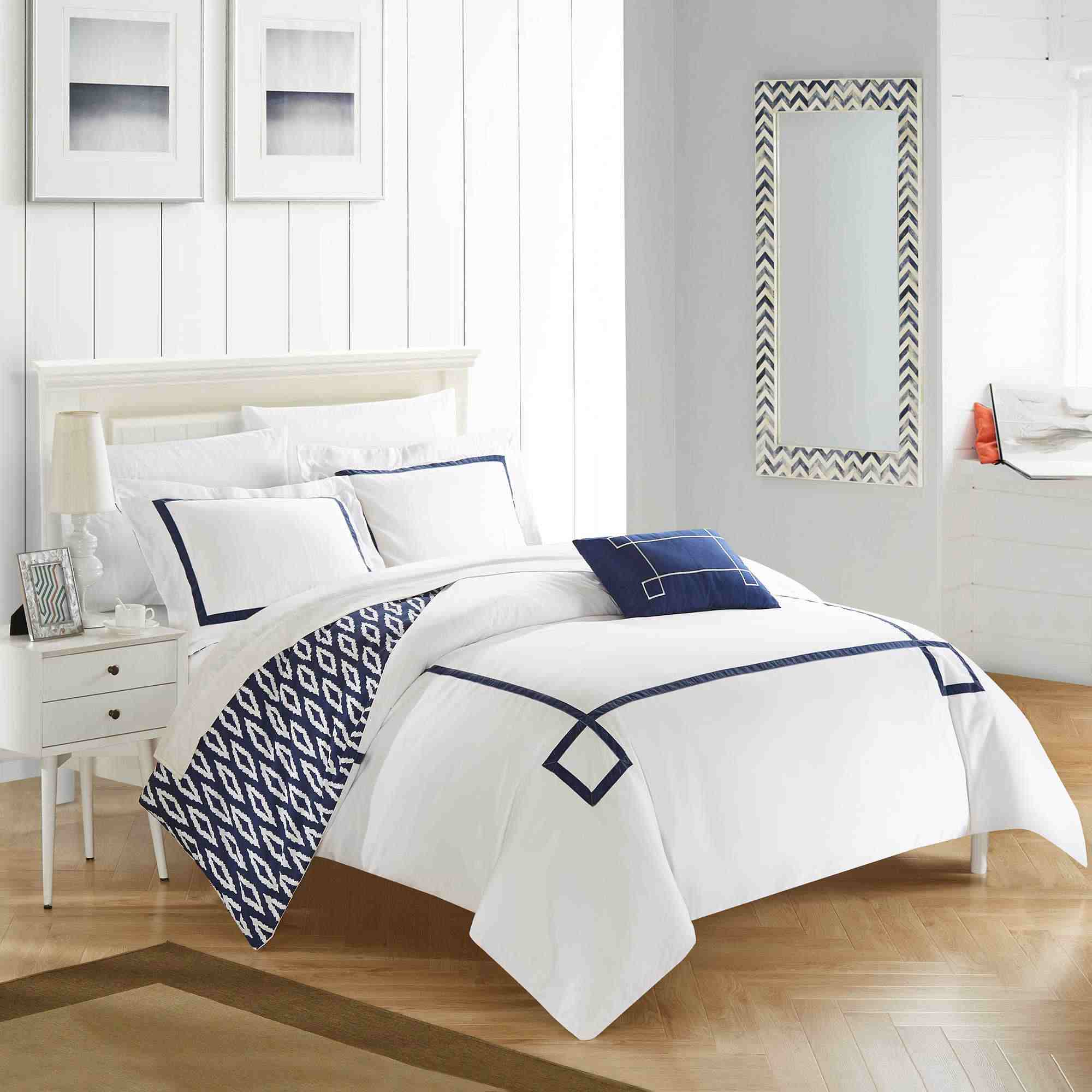 comforter set beyond linens bath waterford hotel pin reversible bed veranda collection
