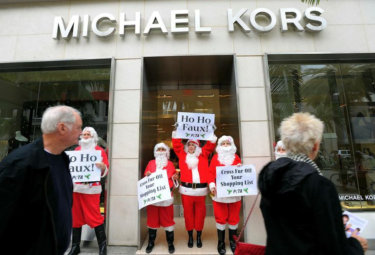 PETA Protests Michael Kors Boutique In Beverly Hills