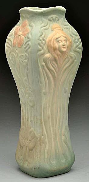 WELLER Pottery Large American Art Deco Vase c. 1928 : La