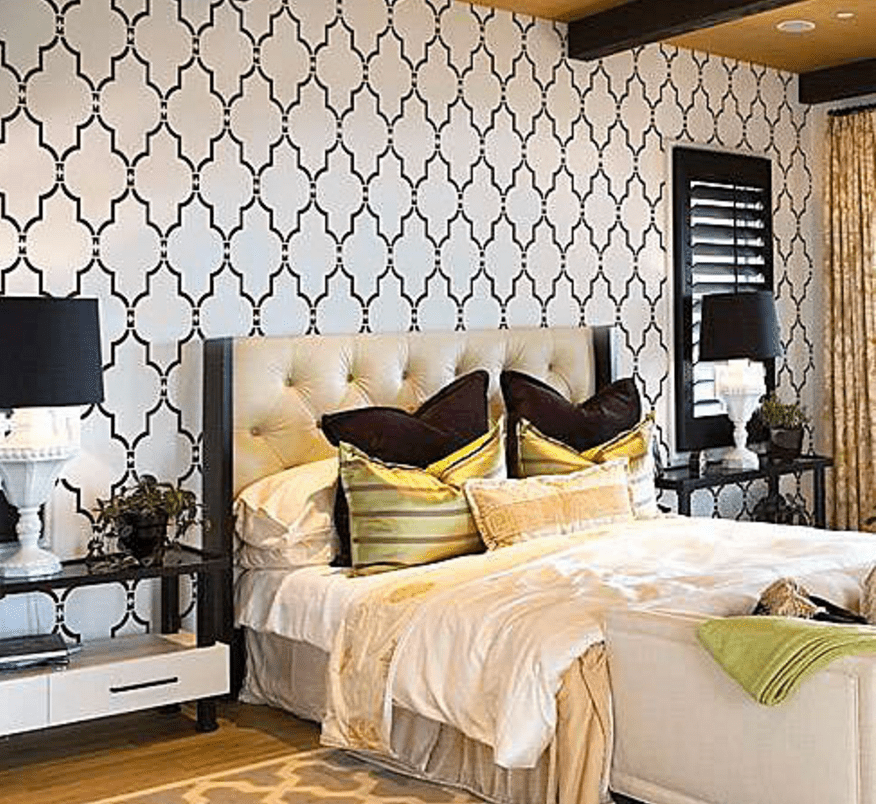 10 awesome diy paint projects you can do this weekend for Bedroom stencils designs