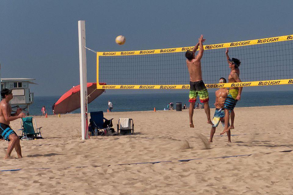 Volleyball Game at Manhattan Beach