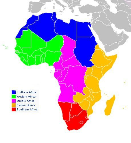 Various Maps Showing How Big Africa Is - Us map divided into regions